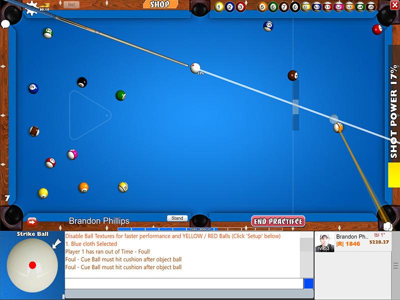 Windows 8 Flash 8 Ball Pool Game full
